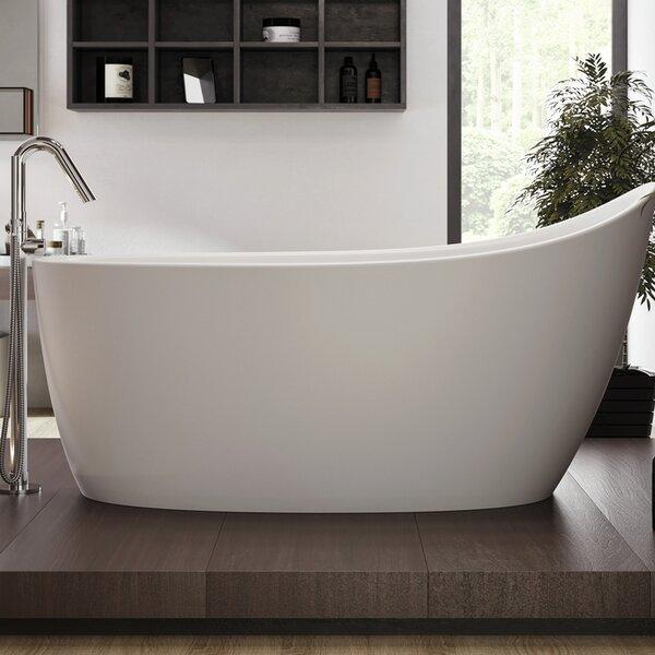 Emmanuelle 66 x 35 Freestanding Soaking Bathtub by Aquatica
