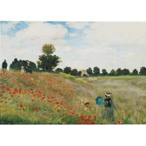 'Wild Poppies Near Argenteuil' by Claude Monet Painting Print on Canvas by Charlton Home
