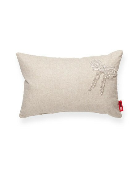 Luxury  Cross Full Sequin Linen Lumbar Pillow by Posh365