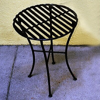 Folding Iron Round Side Table by Pangaea Home and Garden
