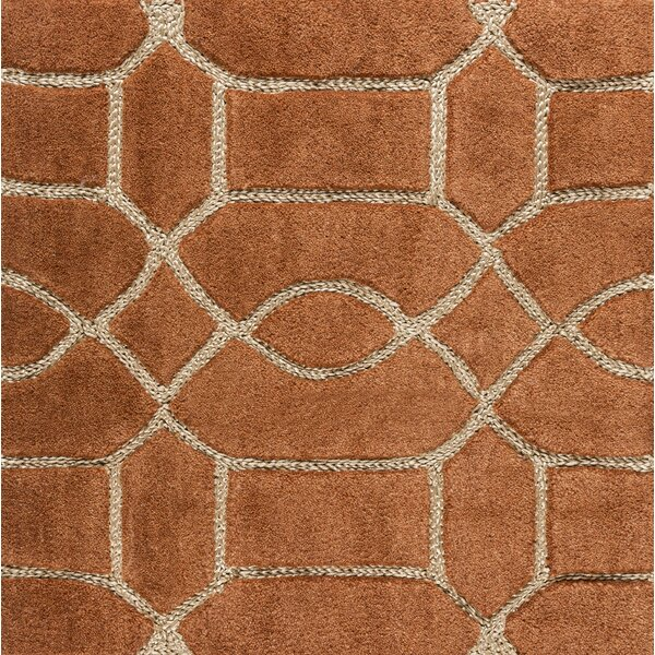 Desroches Hand-Tufted Orange/Beige Area Rug by Charlton Home