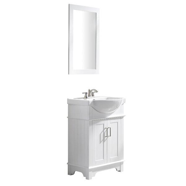 Paulene 24 Single Bathroom Vanity Set with Mirror by Ivy Bronx