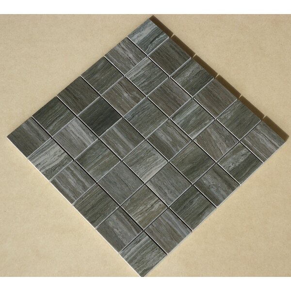 Teakwood 2 x 2 Porcelain Mosaic Tile in Matte Gray by Mulia Tile
