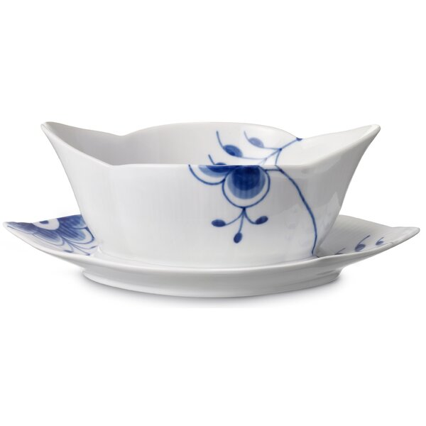 Blue Fluted Mega Gravy Boat by Royal Copenhagen