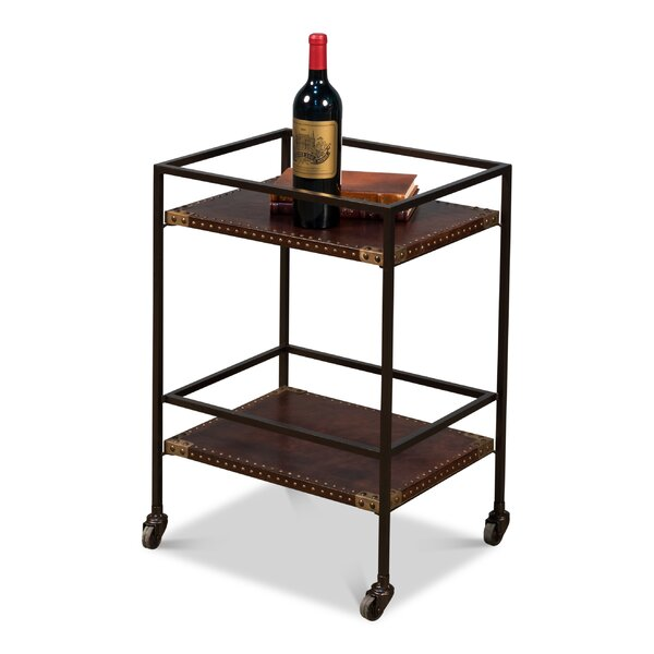 Miriam Industrial Bar Cart by 17 Stories