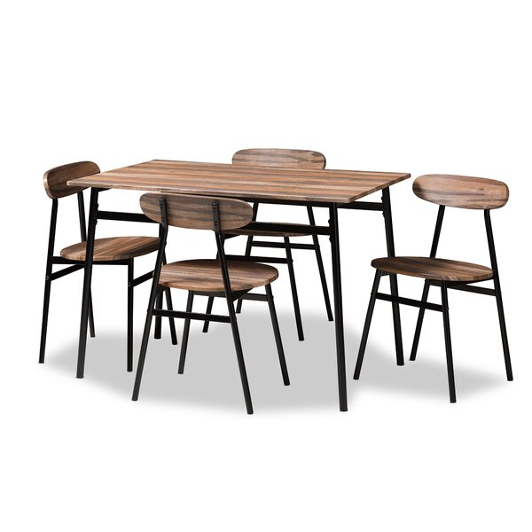 #2 Telauges 5 Piece Dining Set By Union Rustic Great price