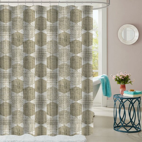 Cypress Polyester Shower Curtain by Wrought Studio