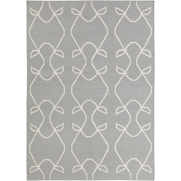 Mittler Abstract Neutral Rug by Ivy Bronx