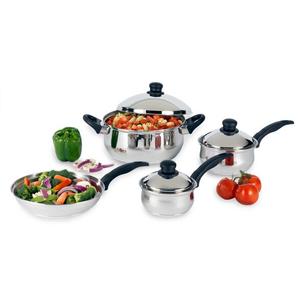 Stainless Steel 7 Piece Cookware Set IV by Heuck
