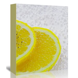 Lemon Underwater Bubbles' Graphic Art Print on Canvas by East Urban Home