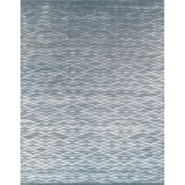 Modern Hand-Knotted Gray Area Rug by Pasargad