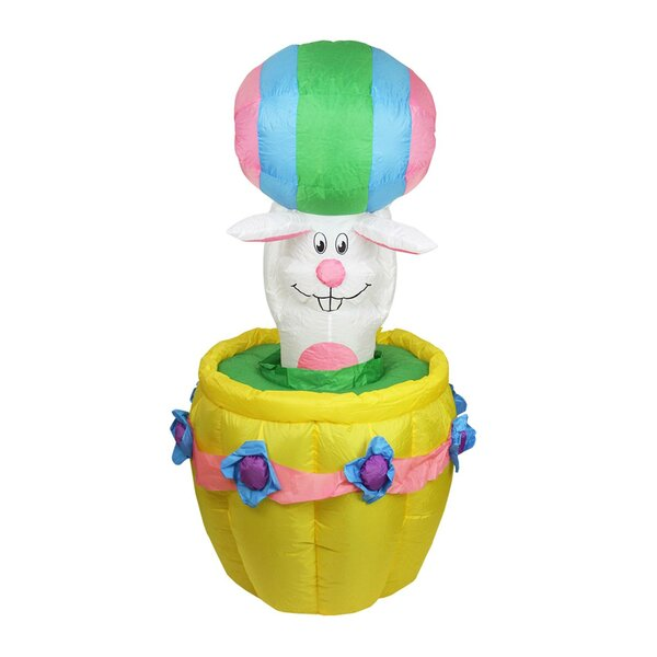 Inflatable Easter Bunny Basket Easter Decoration by Northlight Seasonal