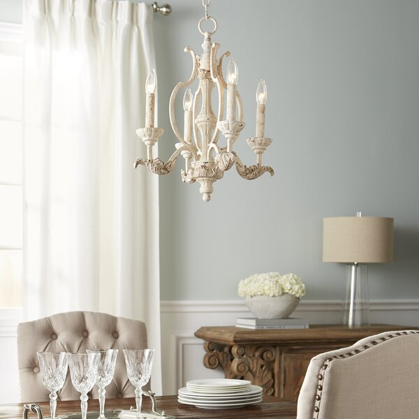 Guyette 4-Light Candle Style Classic / Traditional Chandelier by Lark Manor Lark Manor