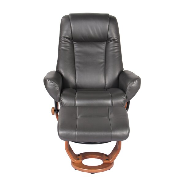 Moroney Manual Recliner with Ottoman Red Barrel Studio W000622169
