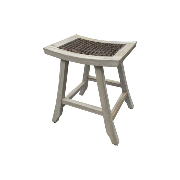 Satori Coastal Vogue 24 Teak Patio Bar Stool by EcoDecors