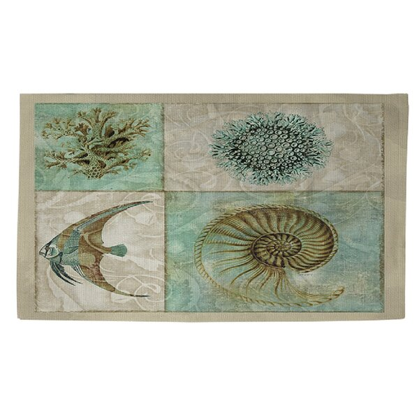 Sea Life 2 Blue/Grey Area Rug by Manual Woodworkers & Weavers