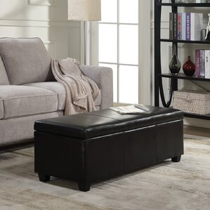 Boston Upholstered Storage Bench by Andover Mills