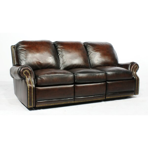 Timmie Leather Reclining Sofa By Canora Grey.