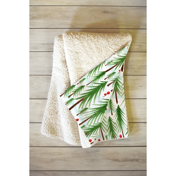 Heather Dutton Christmas Tree Farm Throw by East Urban Home