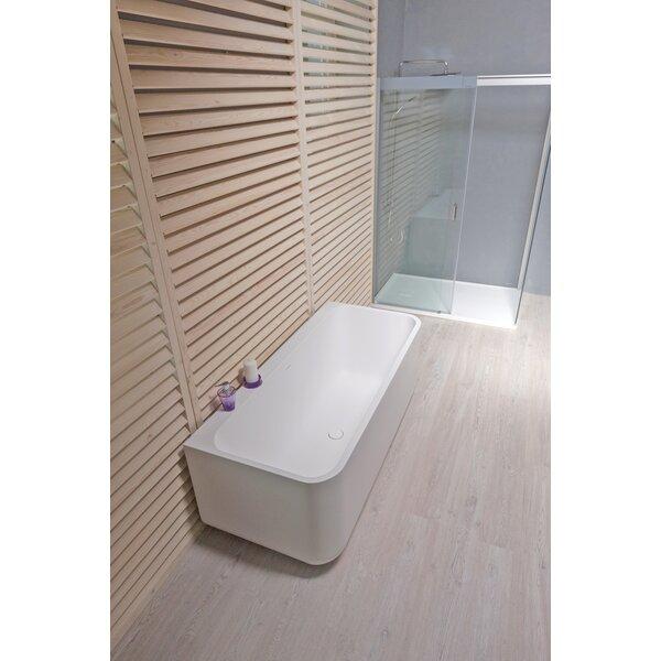 Sincera 63 x 28 Freestanding Soaking Bathtub by Aquatica