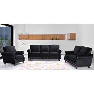 Fegley 3 Piece Living Room Set by House of Hampton®