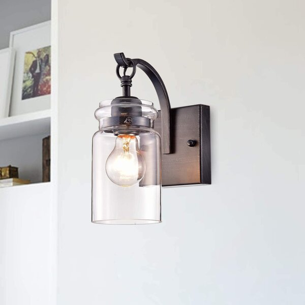 Hollingsworth 1-Light Armed Sconce by Gracie Oaks