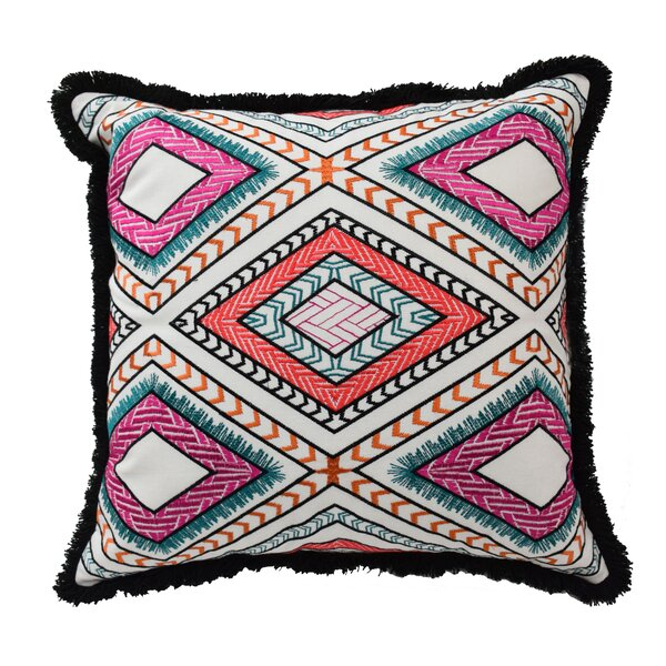 Mexico City Poncho Cotton Throw Pillow by Blissliving Home