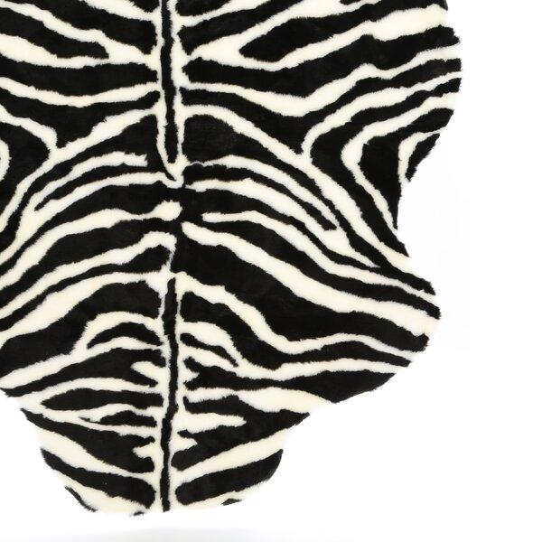 Animal Zebra Narrow Striped Area Rug by Walk On Me