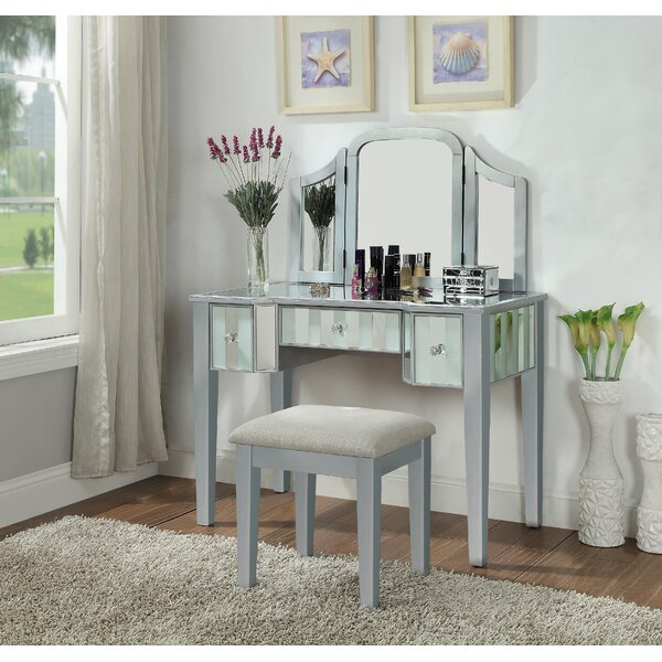 Darian Vanity Set with Mirror by Rosdorf Park