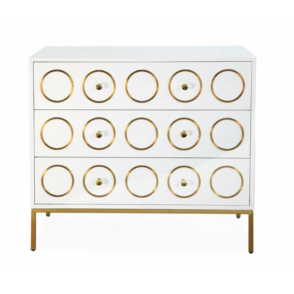 Alvarez 3 Drawer Accent Chest by Everly Quinn Everly Quinn