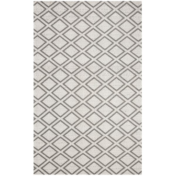 Costillo Hand-Tufted Wool Silver/Dark Gray Area Rug by Wrought Studio