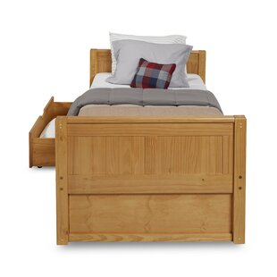 Price Check Oakwood Twin Platform Bed with Drawers ByHarriet Bee