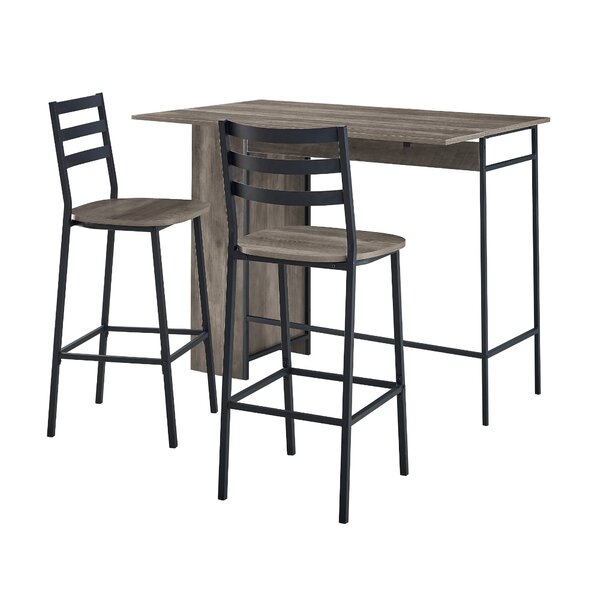 Garcia 3 Piece Drop Leaf Dining Set By Ebern Designs