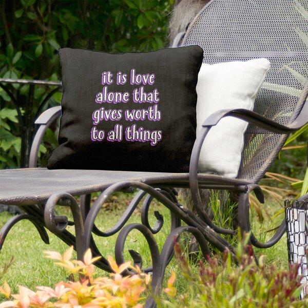 Love Inspirational Indoor/Outdoor Throw Pillow