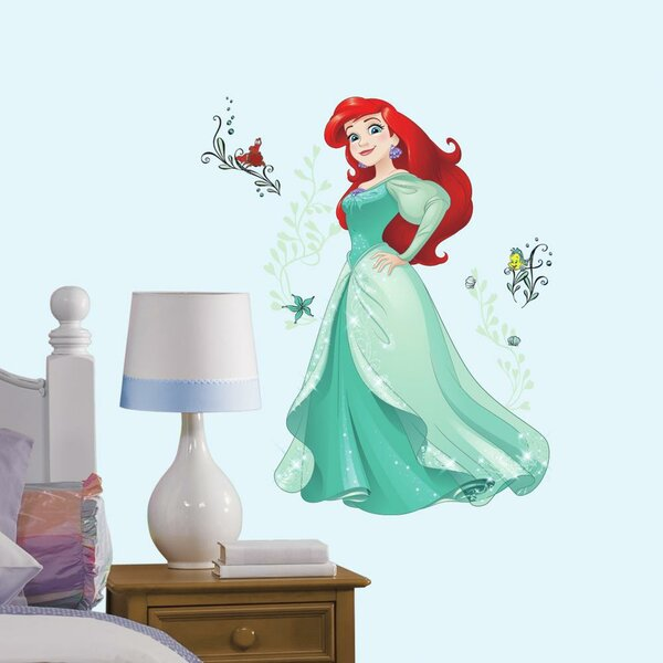 Disney Sparkling Ariel Peel and Stick Giant Wall Decal by Room Mates