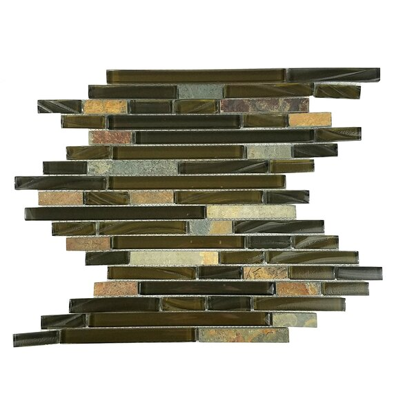 New Era II Random Sized Glass Mosaic Tile in Light Brown by Abolos