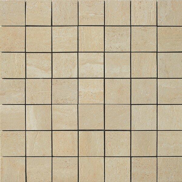 Travertini Porcelain Mosaic Tile in Matte Cream by Samson