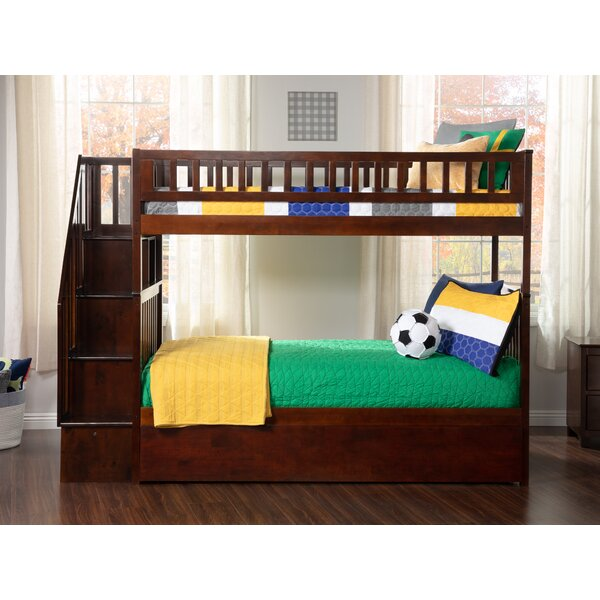 Shyann Twin over Twin Bunk Bed with Trundle and Shelves by Viv + Rae