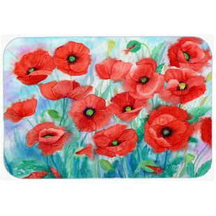 Poppies Glass Cutting Board ByCaroline's Treasures