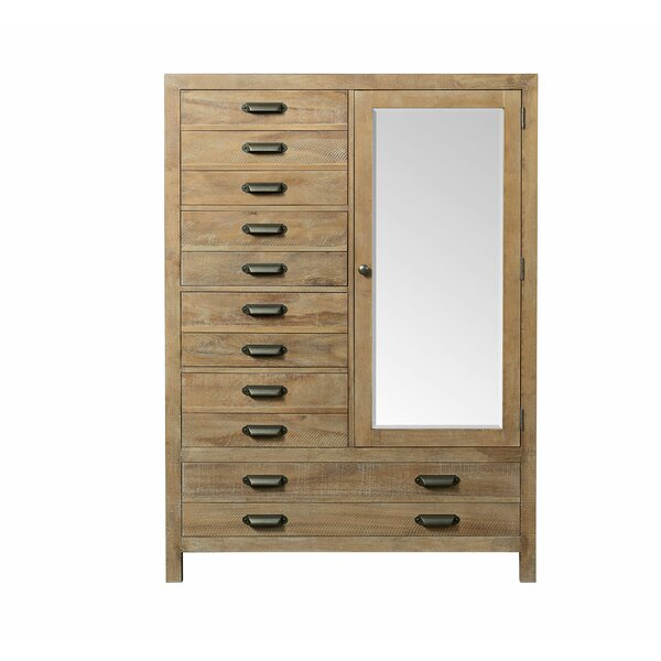 Sthilaire 5 Drawer Gentlemans Chest with Mirror by Foundry Select