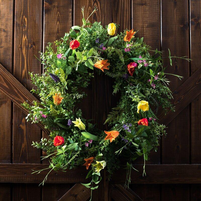 Charlton Home Artificial 30 Plastic Wreath Reviews Wayfair