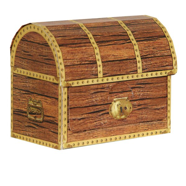 4 Piece Pirate Treasure Chest Favor Decorative Box by The Beistle Company