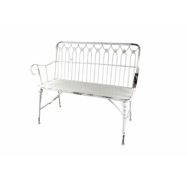 Dorothea Metal Garden Bench by Ophelia & Co.