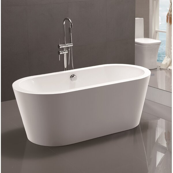 67.7 x 32.3 Freestanding Soaking Bathtub by Vanity Art