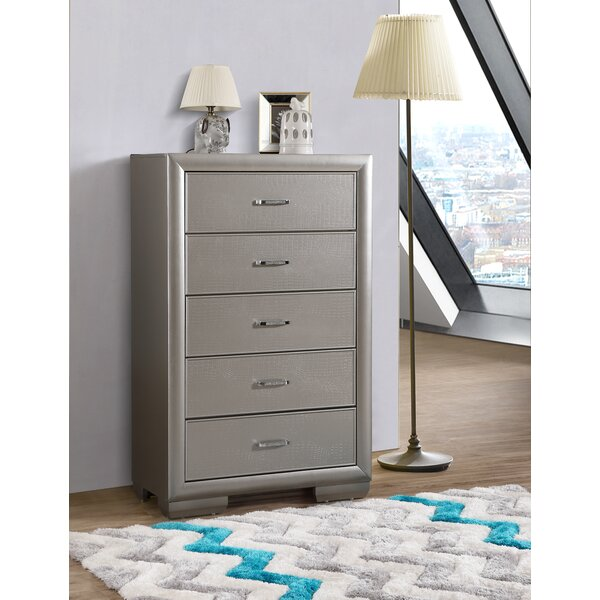 Aguilera 5 Drawer Chest by Everly Quinn