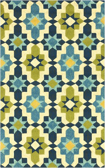 West Hill Multi-Colored Indoor/Outdoor Area Rug by Wrought Studio