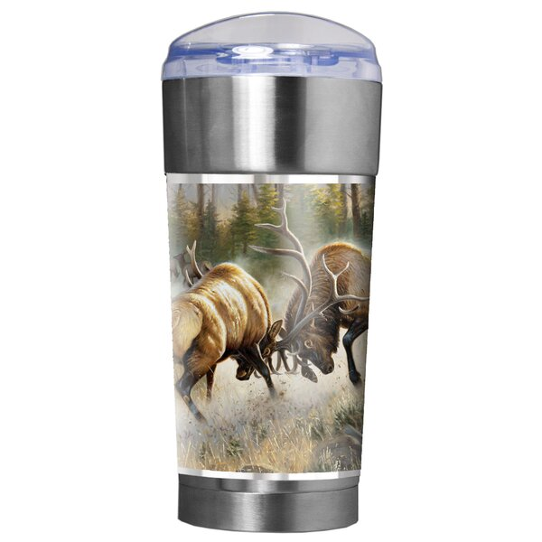 Fighting Elk Traditions 24 oz. Stainless Steel Travel Tumbler by Great American Products