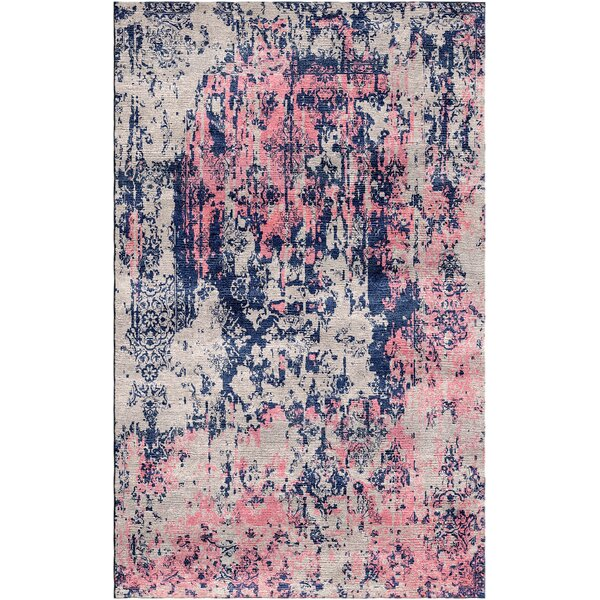 Aliza Handloom Gray/Pink Area Rug by Bungalow Rose