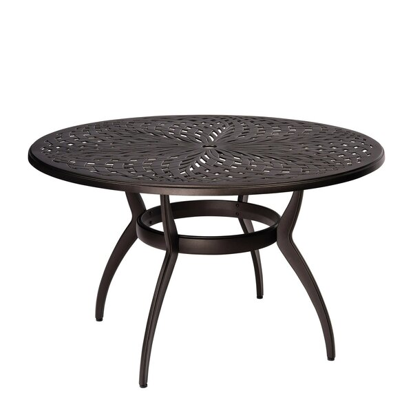 Apollo Round Umbrella Dining Table by Woodard