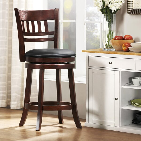 Quarry 24 Swivel Bar Stool by Three Posts